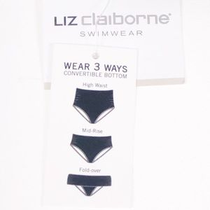 Liz Claiborne 3 Ways Convertible Bikini Bottom XL